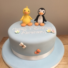 Penguin and Duck Cake